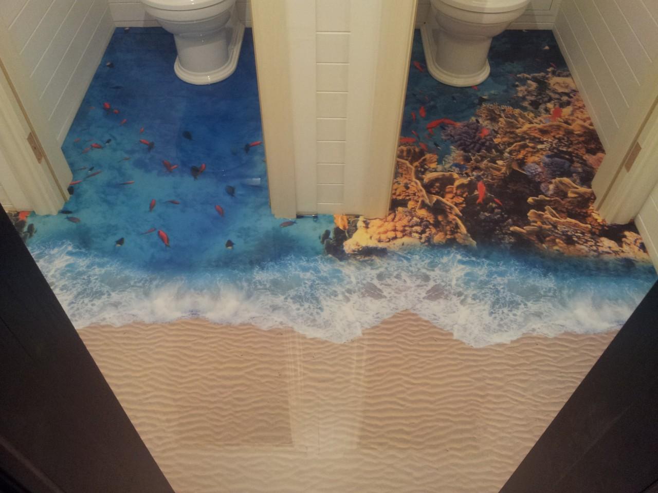 3д підлога у ванній