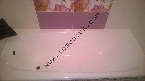 реставрація ванни своїми руками у івано франківську, виконана акрилом наливним для наливних ванн пласталом